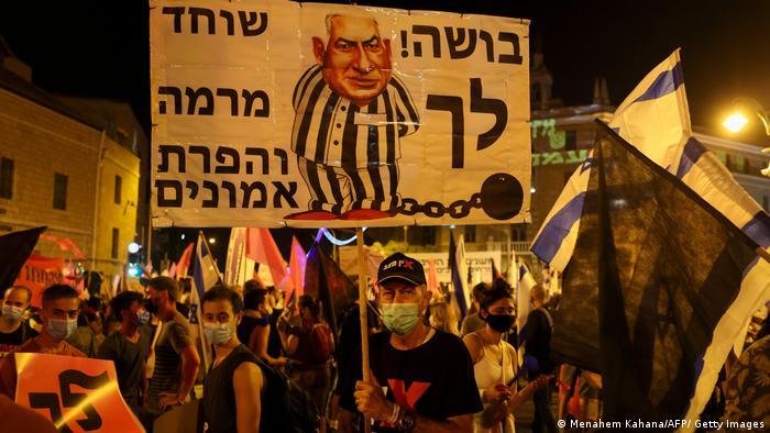 Israel I Corona-Proteste in Tel Aviv (Menahem Kahana/AFP/ Getty Images)