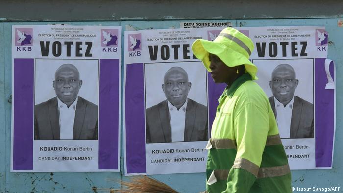 Les affiches de Kouadio Konan Bertin se font plutôt rares