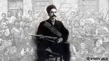 Montage   iranischer Freiheitskämpfer Sattar Khan (1868 - 1914)