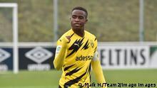 U19 Bundesliga | FC Schalke 04 v Borussia Dortmund - Youssoufa Moukoko (Maik H./Team2/Imago Images)