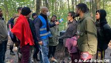 Arafatul Islam at Velika Kladusa - topic: Bangladeshi refugees DW, Arafatul Islam
