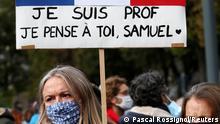 Frankreich Paris | Trauer um getöteten Lehrer Samuel Paty