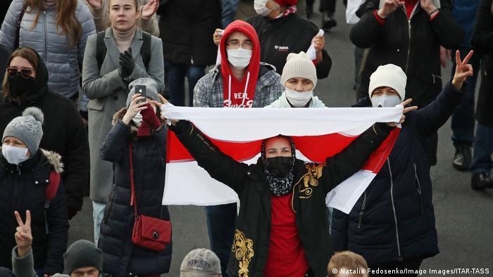 Акция протеста в Минске (фото из архива)