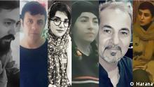 Iran, Kollage verhafteter Aktivisten