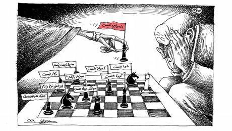 Karikatur von Mana Neystani zu Arzneimittelkenappheit
