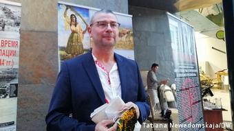 Франк Брендле на открытии выставки в Минске