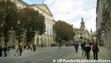 Ukraine Marktplatz in Lemberg