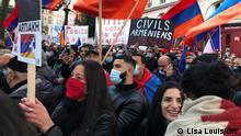 Frankreich | Konflikte | Demonstration von Armeniern in Paris (Lisa Louis/DW)