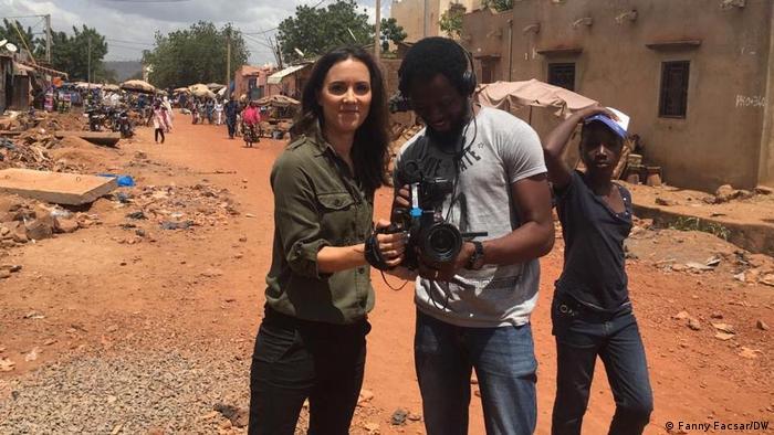Fanny Facsar and cameraman Adewole Dada
