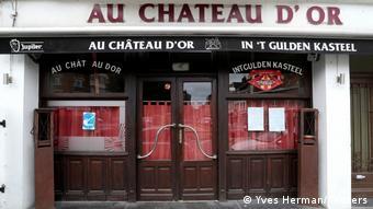 Закрытое кафе в Брюсселе