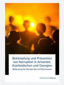 Титульный лист исследования Фонда Бертельсмана о коррупции в странах Южного Кавказа