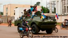 Zentralafrikanische Republik | Soldaten | Russisches Militärfahrzeug