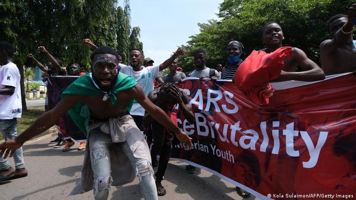 Nigeria Abuja   End Sars Proteste   Demonstranten