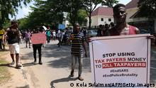 Nigeria Abuja | End Sars Proteste | Demonstranten