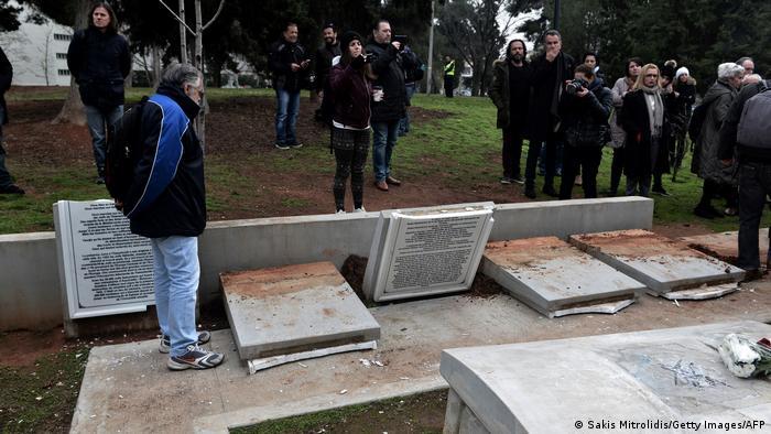 Oskrnavljeno židovsko groblje u Solunu (siječanj, 2019.)
