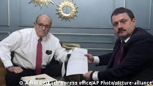 Ukraine Rudy Giuliani und Adriii Derkach
