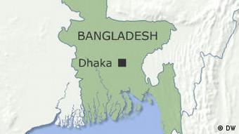 Karte von Bangladesch (Grafik: DW)