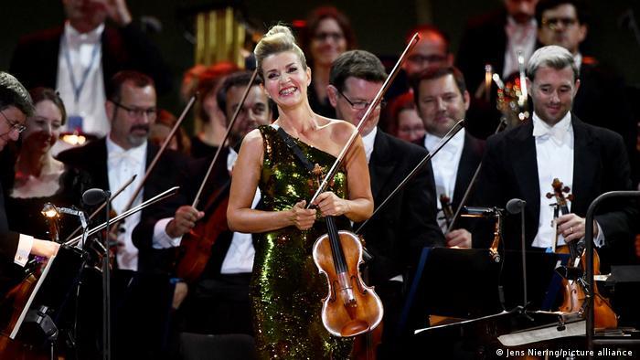 Antes del coronavirus: Anne-Sophie Mutter durante un concierto en Múnich, en 2019.