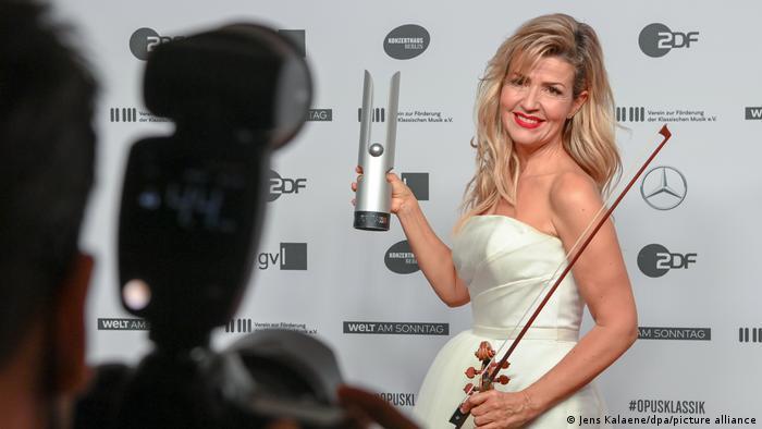 Anne-Sophie Mutter fue galardonada en 2020 con el premio Opus-Klassik como Mejor instrumentista.