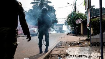 Les partisans de l'opposant Cellou Dalein Diallo dispersés par les forces de l'ordre à Conakry le 19 octobre 2020 - Image/Archives.