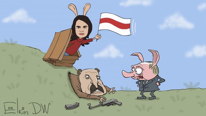 Тихановская, Лукашенко и Путин как Кролик, Виннипух и Пятачок