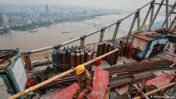 Imagem aérea de Wuhan