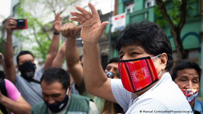 Argentinien Buenos Aires | Evo Morales spricht zu Pressevertretern (Manuel Cortina/NurPhoto/picture-alliance)