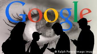 Тени на фоне логотипа Google
