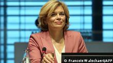 German Agricultural Minister Julia Klöckner at EU meeting in Luxemburg (Francois Walschaert/AFP)
