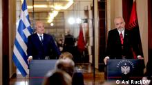 Greek foreign minister visits Tirana, Albania (Ani Ruci/DW)