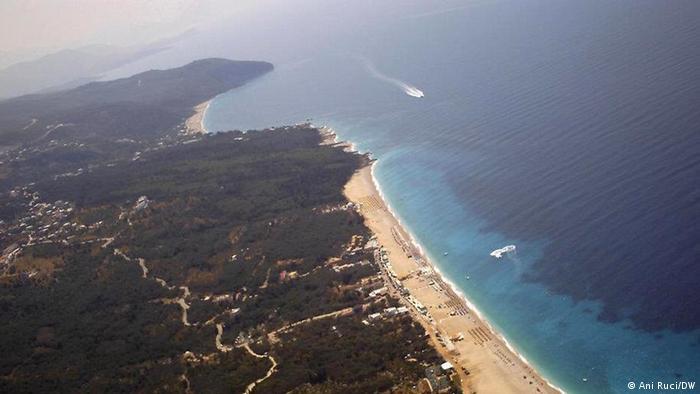 The Greek and Albanian coast on the Ionian sea