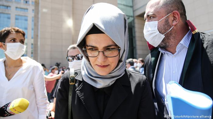 Saudi journalist Jamal Khashoggi's fiancee Hatice Cengiz in Istanbul on July 3, 2020.