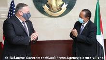 Sudan Khartum US-Außenminister Pompeo und Abdalla Hamdok