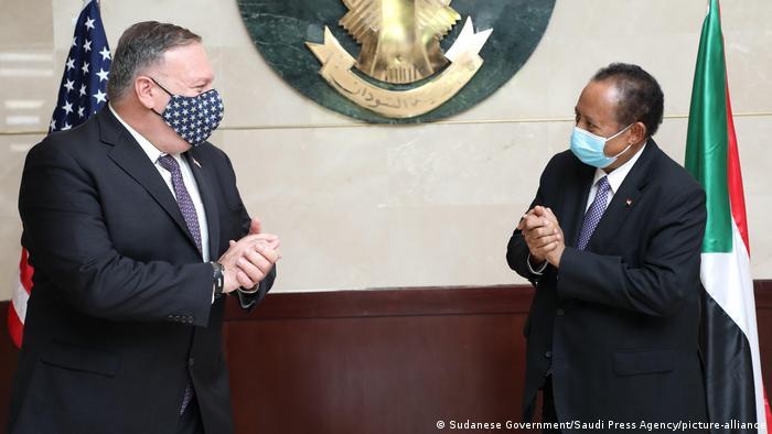 Sudan Khartum Mike Pompeo und Abdullah Hamduk