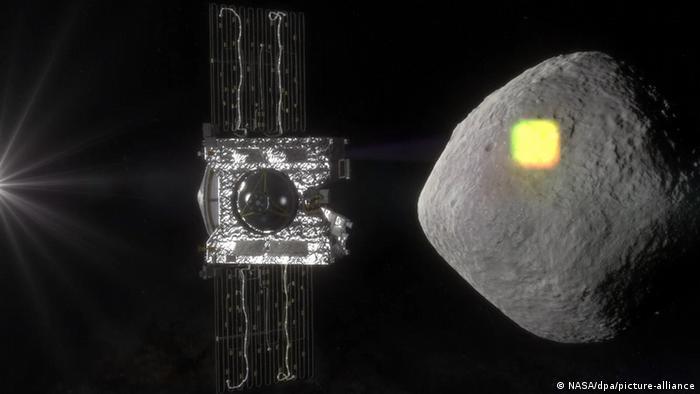 Osiris Rex Sonde und Asteroid Bennu