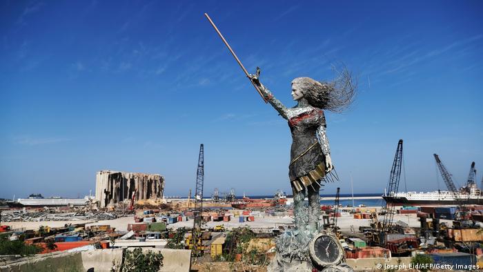 BdTD Libanon Statue Hafenexplosion