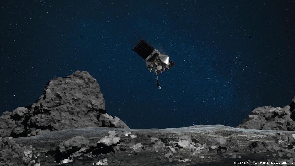 NASA probe Osiris-Rex grabs sample of asteroid Bennu in historic mission