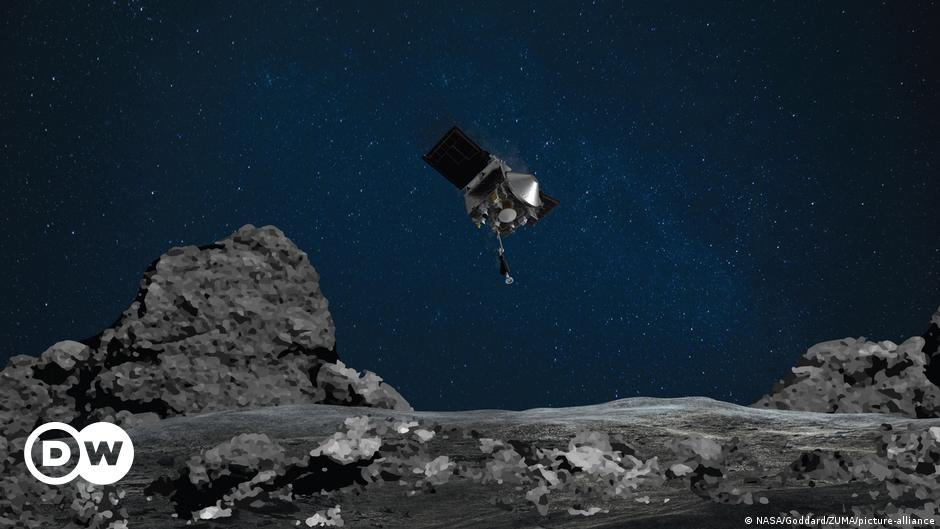 NASA probe Osiris-Rex grabs sample of asteroid Bennu in historic mission