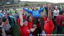 Algerien Sahel   Fussballturnier der Frauen   Torwartin Aida (Ramzi Boudina/Reuters)