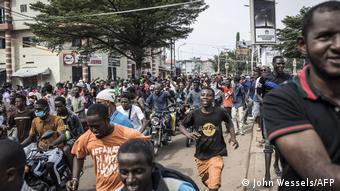 Manifestation des partisans de Cellou Dalein Diallo à Conakry (Archives/John Wessels/AFP)
