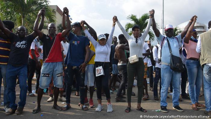 Nigeria Demo gegen Polizeigewalt in Lagos