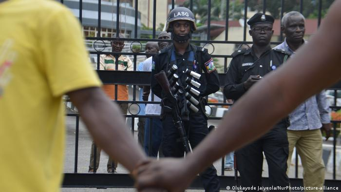 #EndSARS protesters in Ikeja, Lagos