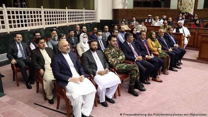 Afghanistan Präsident Ghani stellt seine neuen Kabinettsmitglieder vor (Presseabteilung des Präsidentenpalastes von Afghanistan)