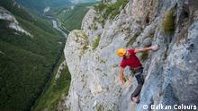 Bosnien Herzegowina Klettern im Canyon Tijesno bei Banjaluka