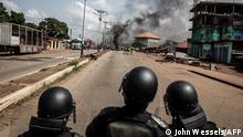 Guinea Ausschreitungen nach Bekanntgabe der vorläufigen Ergebnisse in Conakry