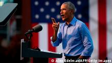 USA Philadelphia Wahlkampfauftritt Ex-Präsident Barack Obama
