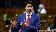 Kanada Ottawa Premierminister Justin Trudeau während Fragestunde im Parlament