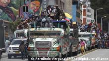 Kolumbien Streik und Protest in Bogota