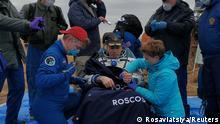 Kasachstan Rückkehr von der ISS (Rosaviatsiya/Reuters)