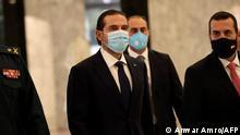 Libanon Saad Hariri verlässt das Büro von Präsident Michel Aoun